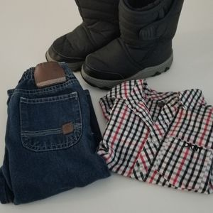 🕶️ Tot Boy combo Timberland Jeans Dkny button up